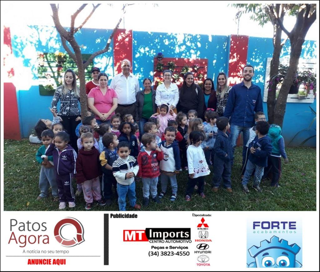 Programa Hortas Comunitárias: prefeitura realiza o plantio de mudas em hortas comunitárias nos bairros Alto da Colina e Brasil