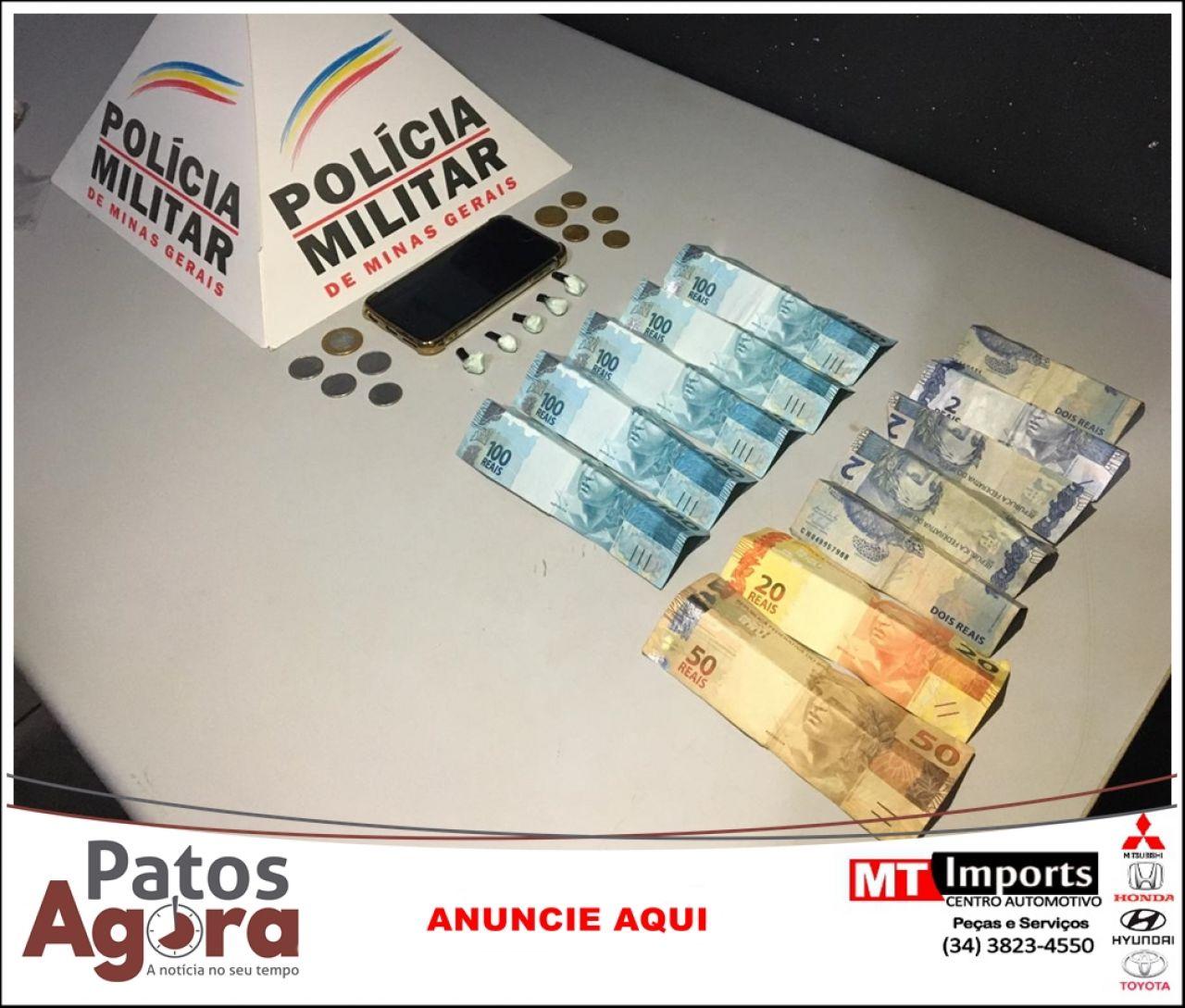 PM prende dois homens e uma mulher suspeitos de envolvimento no tráfico de drogas