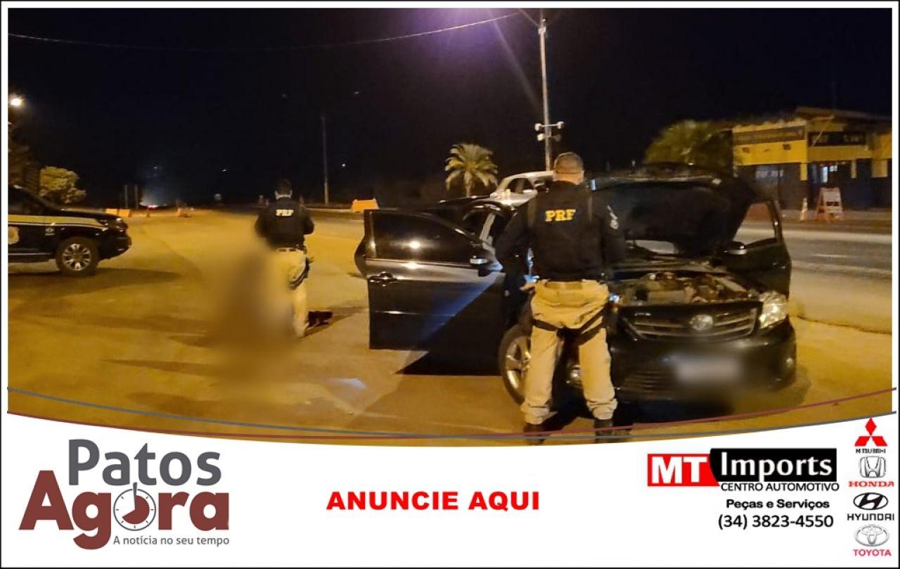 PRF apreende Corolla roubado no estado de São Paulo