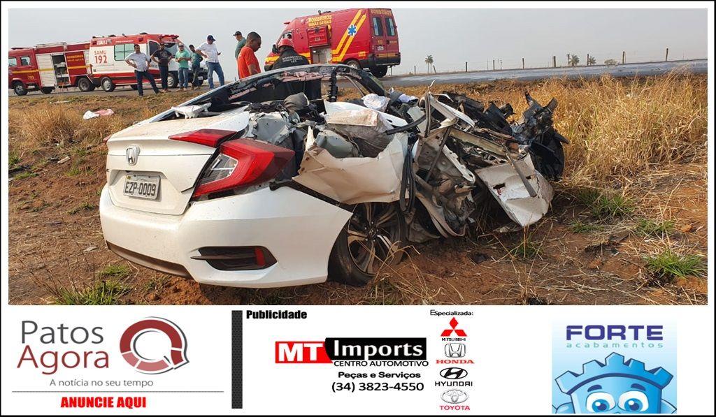 Três médicos morreram em grave acidente entre carro e carreta