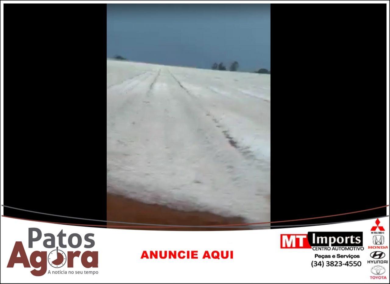 Defesa Civil alerta a população após forte chuva com granizo registrada na região