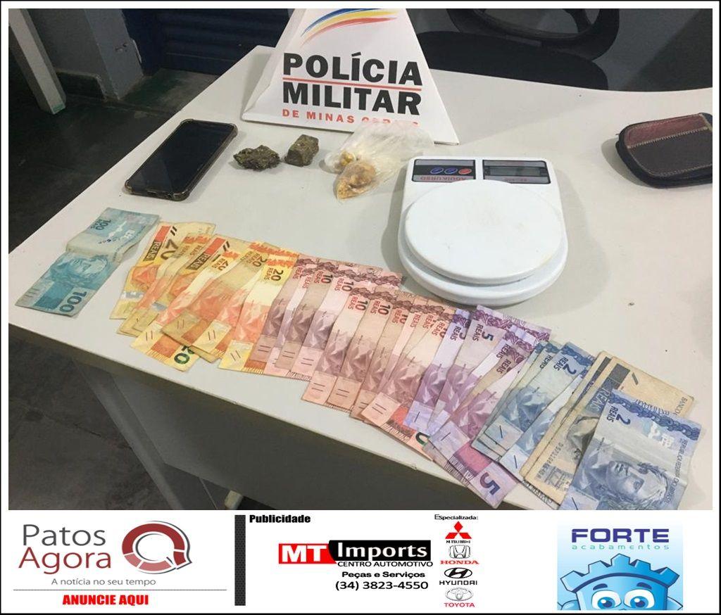 PM aborda veículo e ocupantes acabam presos por tráfico de drogas em São Gotardo