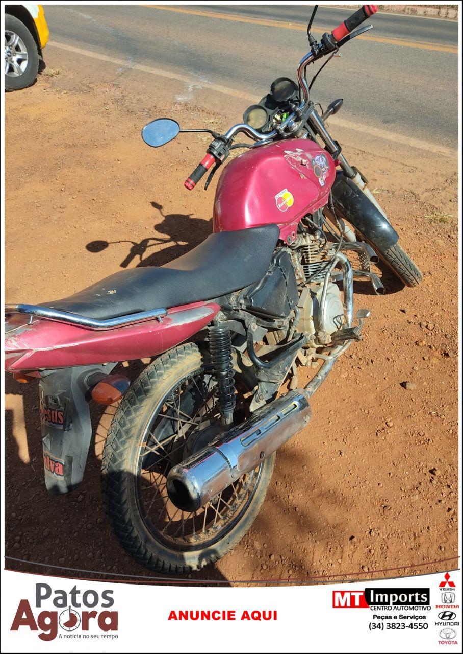 PM apreende motocicleta sem placa e com chassi raspado durante operação na rodovia MG 235