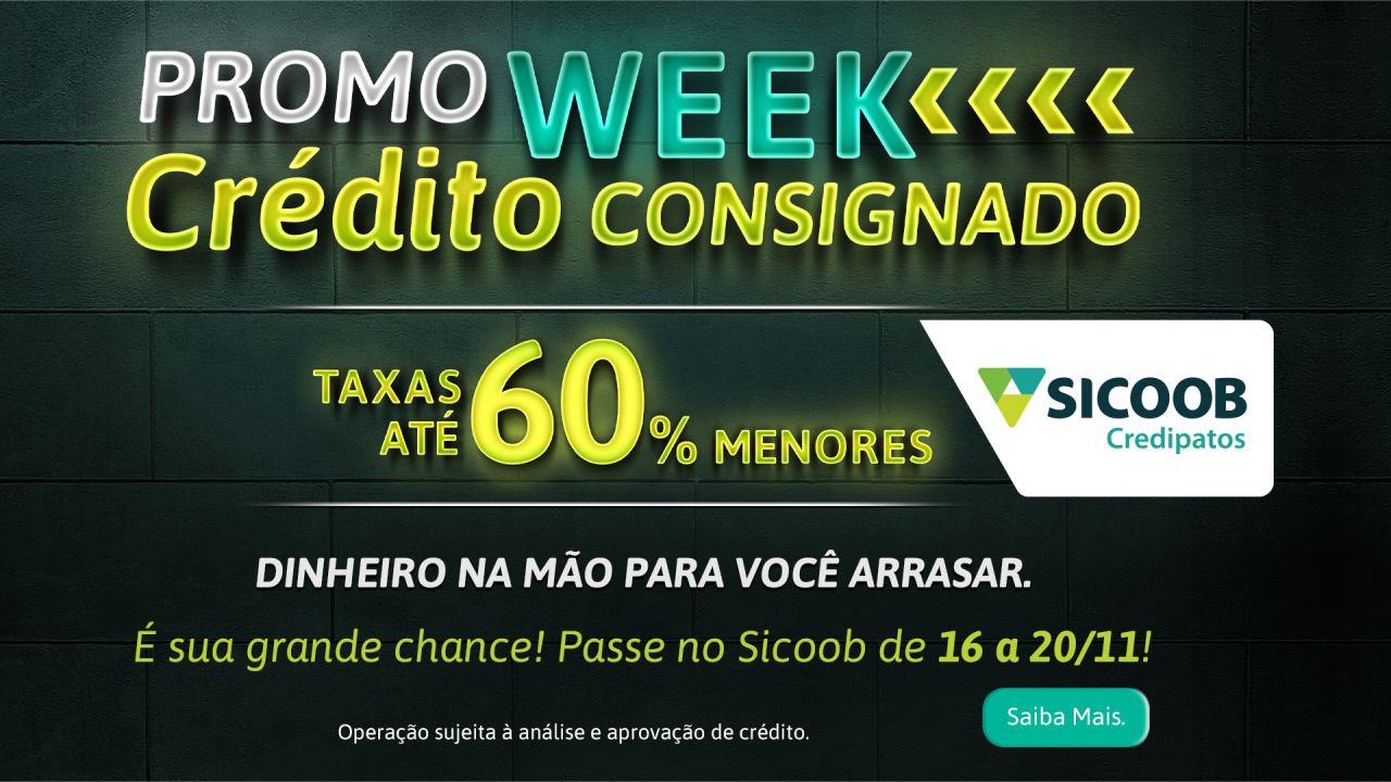 Crédito Consignado do Sicoob Credipatos com taxas até 60% menores