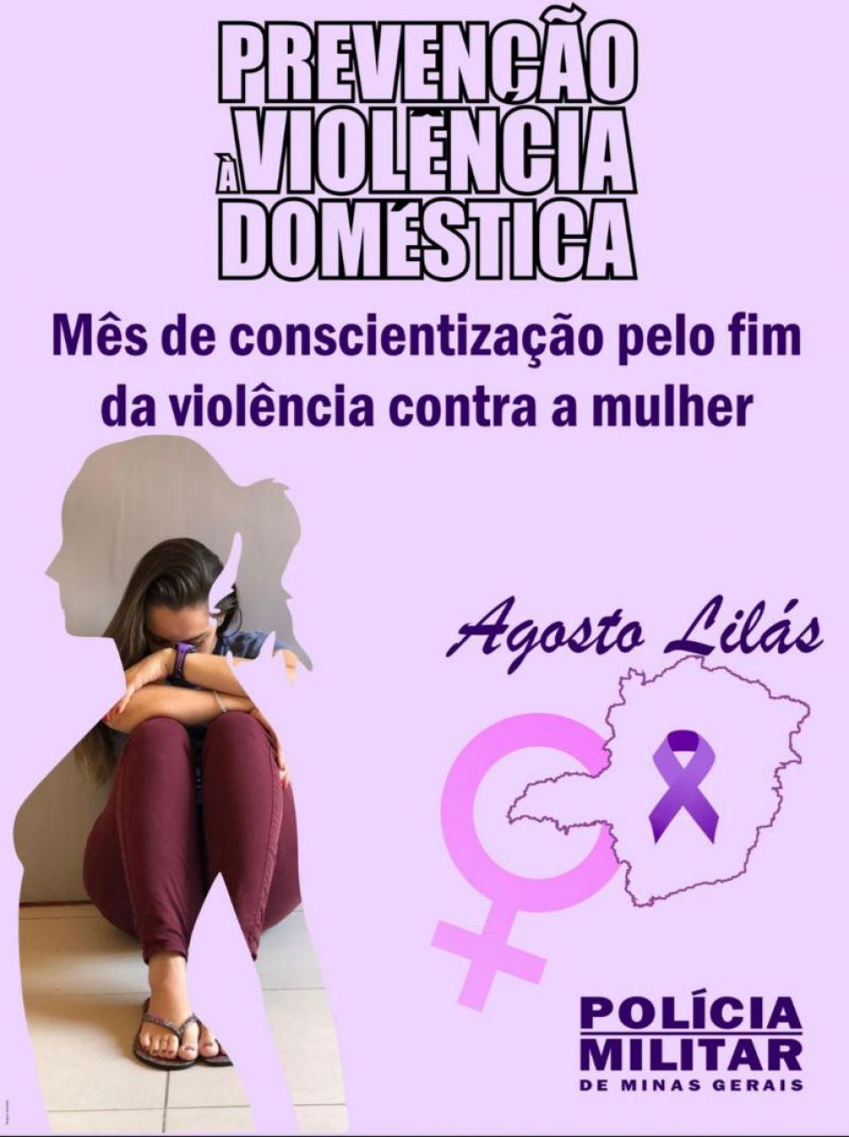 PM realiza campanha Agosto Lilás - mês da conscientização pelo fim da violência contra a mulher