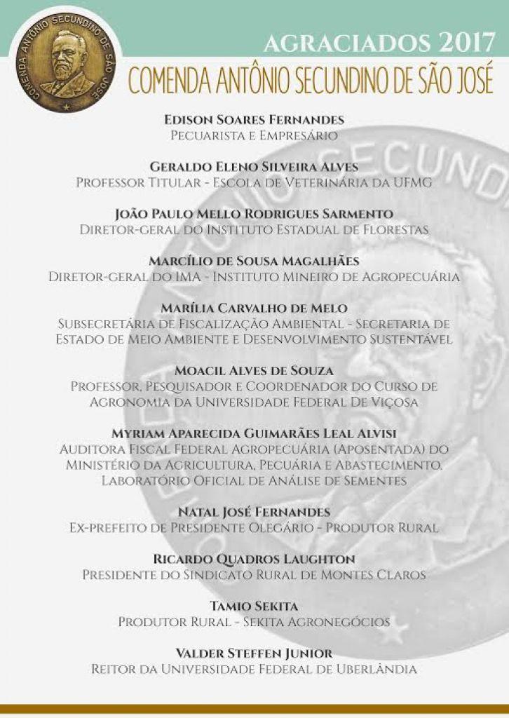 Governador Fernando Pimentel confirma presença na entrega da Comenda Antônio Secundino de São José