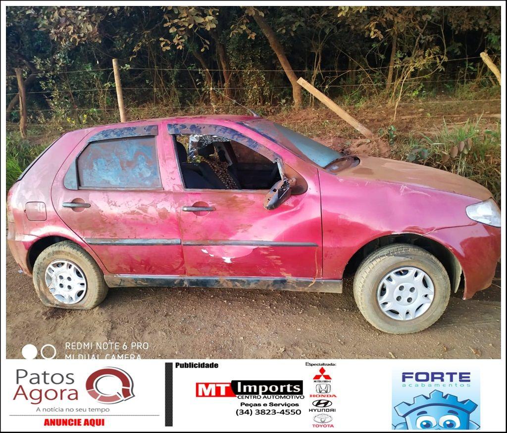 Condutor é preso por embriaguez ao volante após perder o controle durante ultrapassagem e colidir em barranco