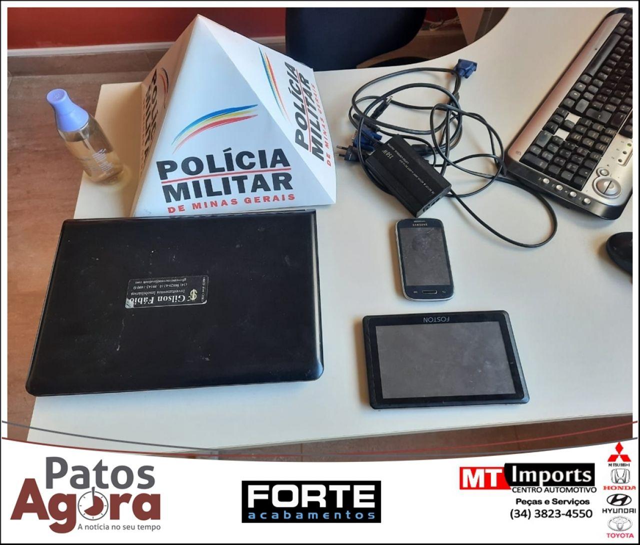 Polícia Militar prende autores de furto e recupera materiais
