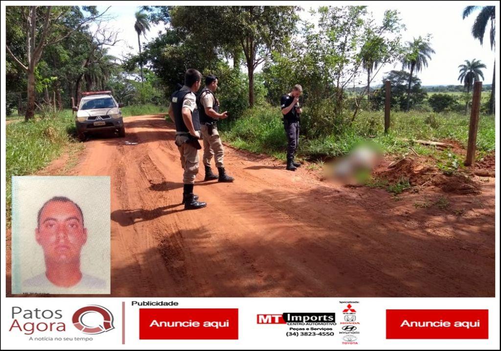 Rapaz de Patos de Minas é assassinado em estrada vicinal no município de Carmo do Paranaíba