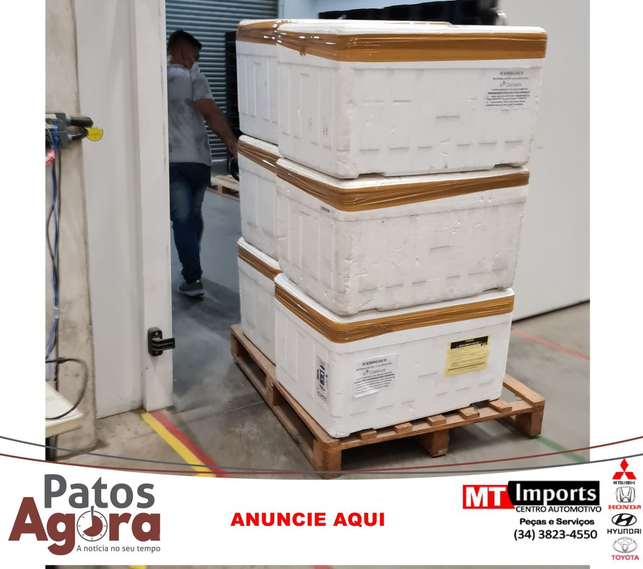 Minas recebe, mais de 133 mil unidades de medicamentos para kit intubação