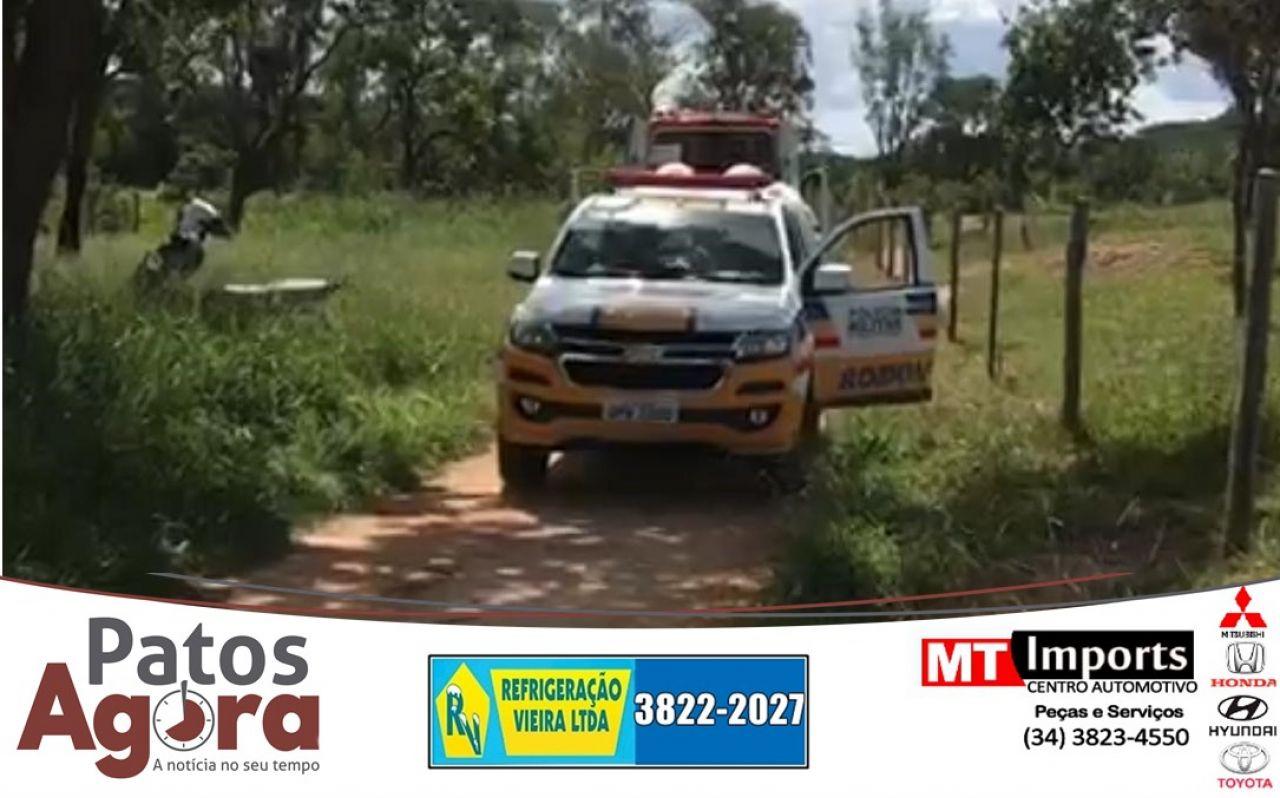 Homem morre e outro fica ferido após serem baleados na represona em Presidente Olegário
