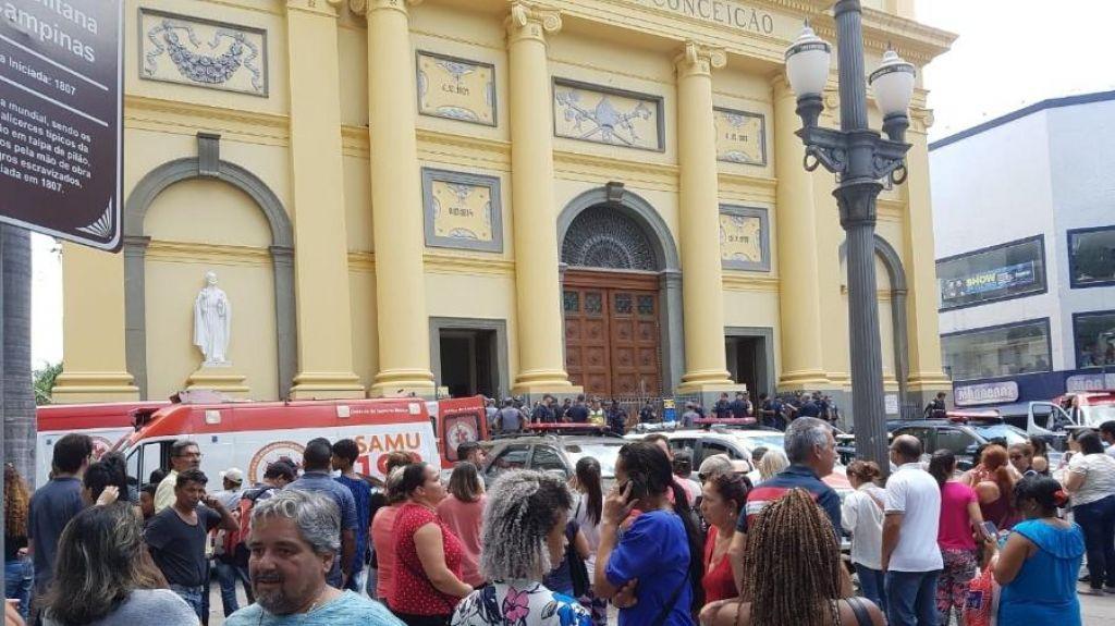 Tragédia: Homem entra em catedral, mata quatro pessoa e se suicida em Campinas