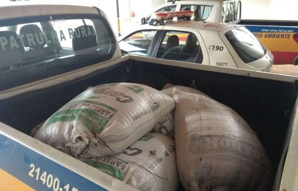 Funcionários são detidos furtando sacas de café em fazenda no município de Carmo do Paranaíba