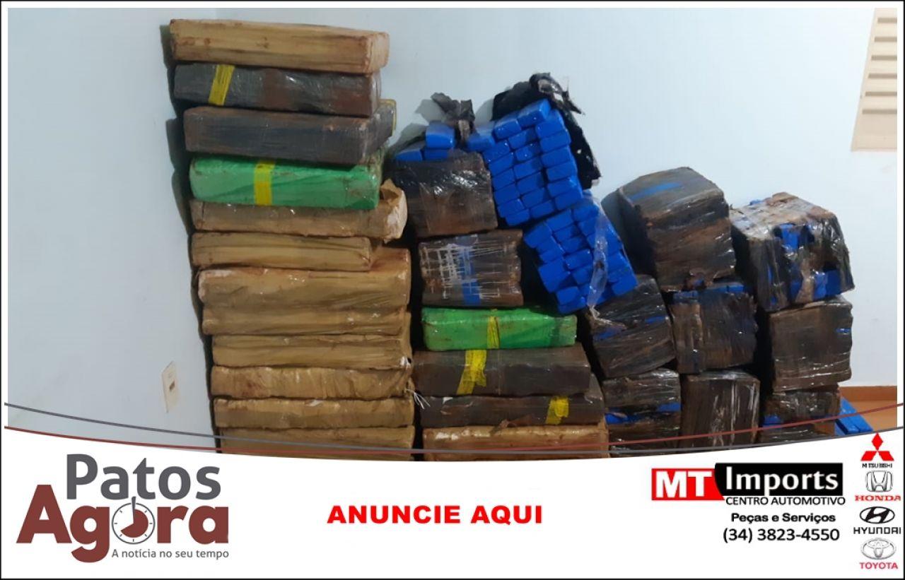 PRF apreende mais de 630 kg de maconha escondida em carregamento de fogões
