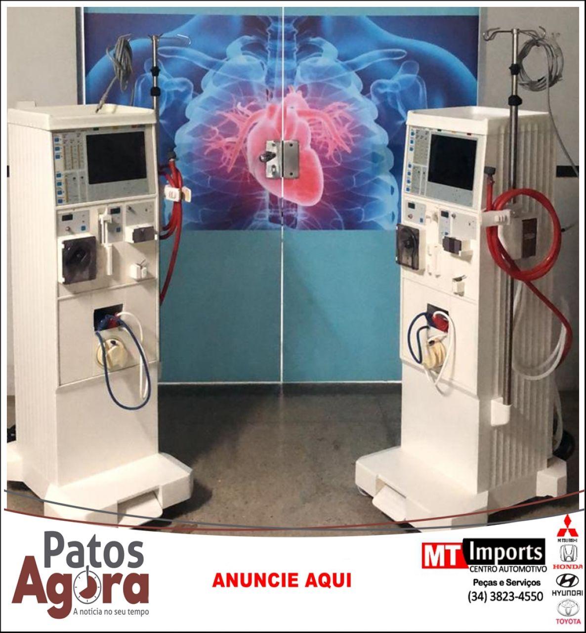 Hospital de Campanha recebe duas máquinas de hemodiálise