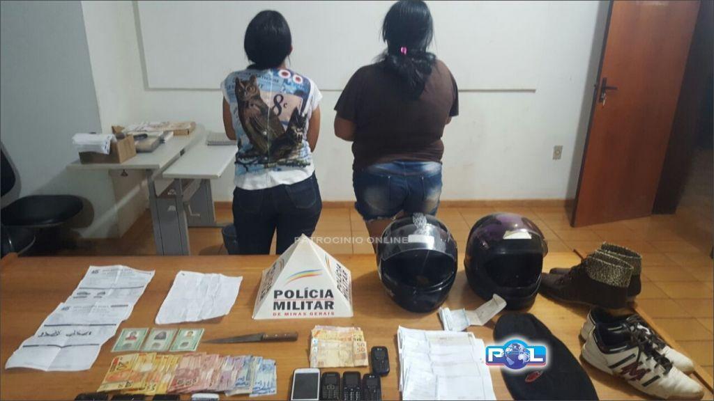 Monte Carmelo: PM prende duas mulheres suspeitas de darem cobertura a assaltantes