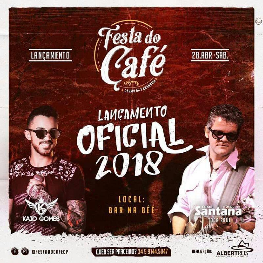 Sucesso em 2017, Carmo do Paranaíba confirma a 2ª edição da festa que homenageia o café.