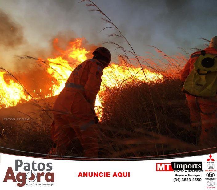 De perto a gente  entende o trabalho em um incêndio em vegetação