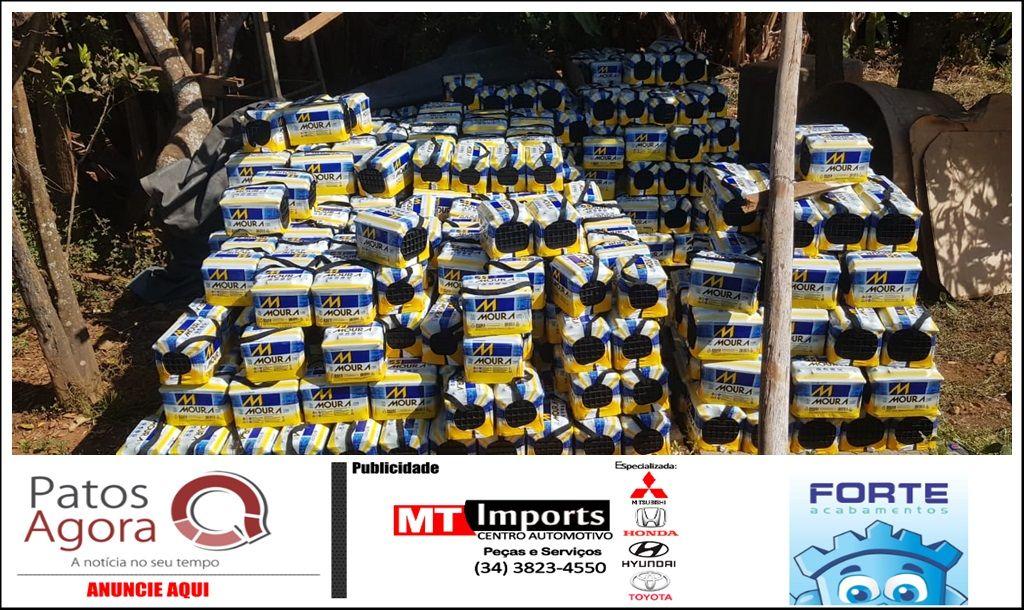 Após prisão de suspeito baleado pela polícia, militares chegam até carga de 907 baterias roubadas