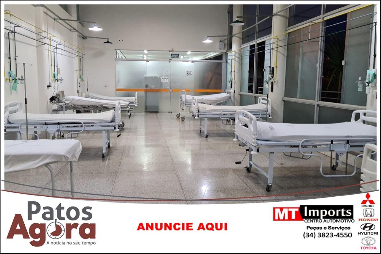 Secretária de Saúde anuncia que mais 8 leitos de UTI começaram a funcionar nesse sábado no Hospital de Campanha