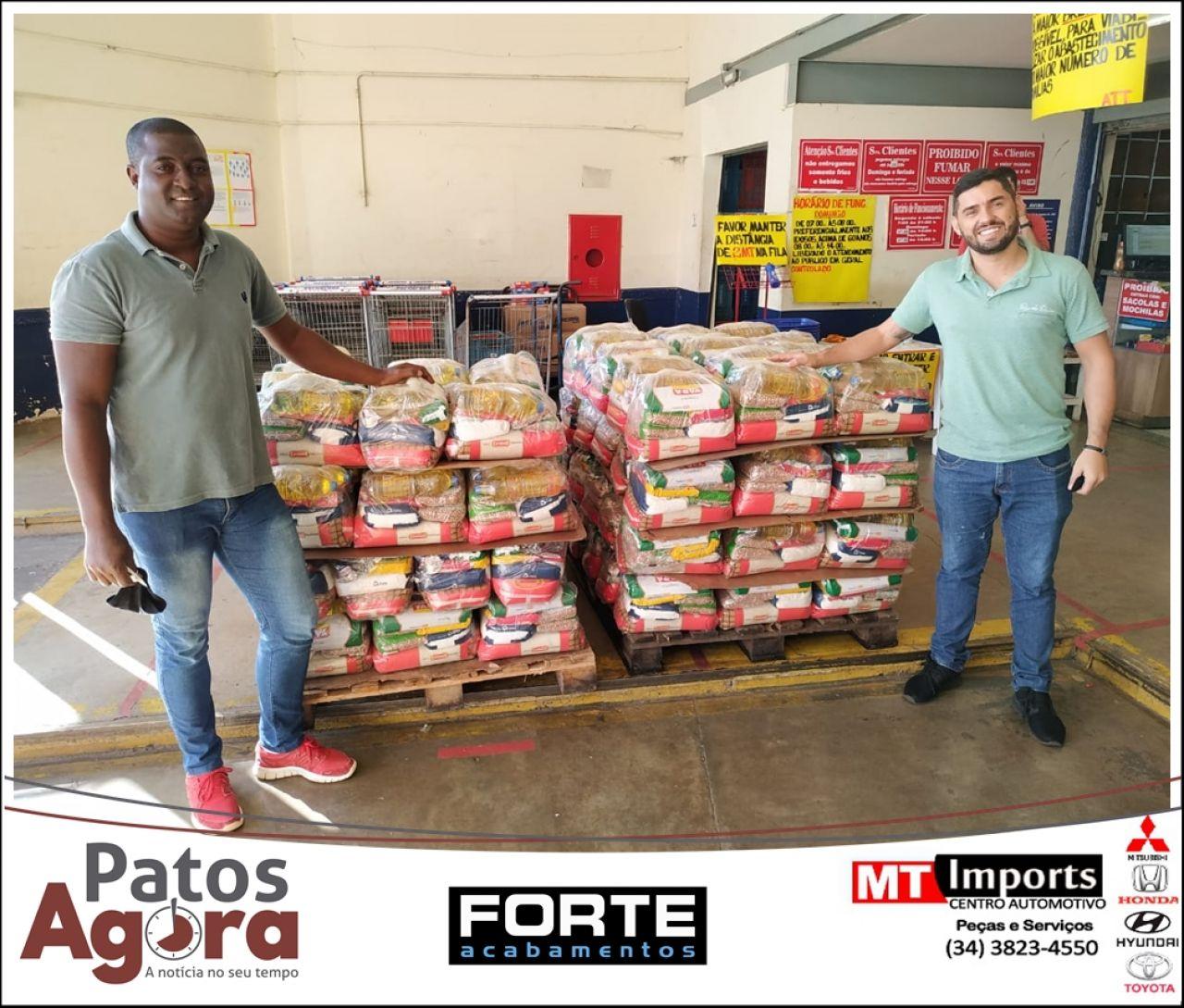 Doações da live da dupla João Paulo e Ricardo são entregues
