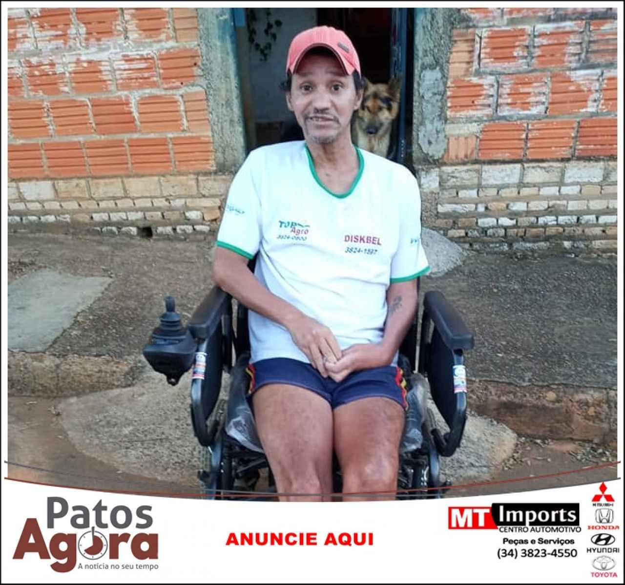 Em ação social, empresários e população de Lagoa Formosa doam cadeira de rodas motorizada
