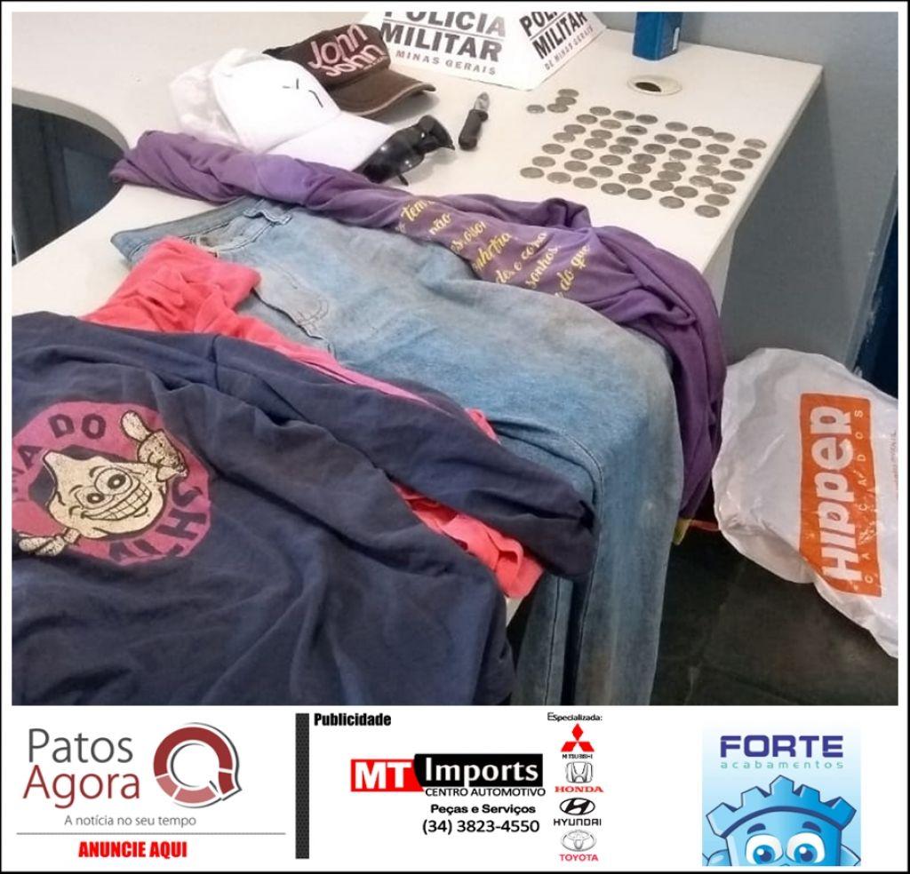 PM de São Gotardo prende dupla suspeita de furtar residência