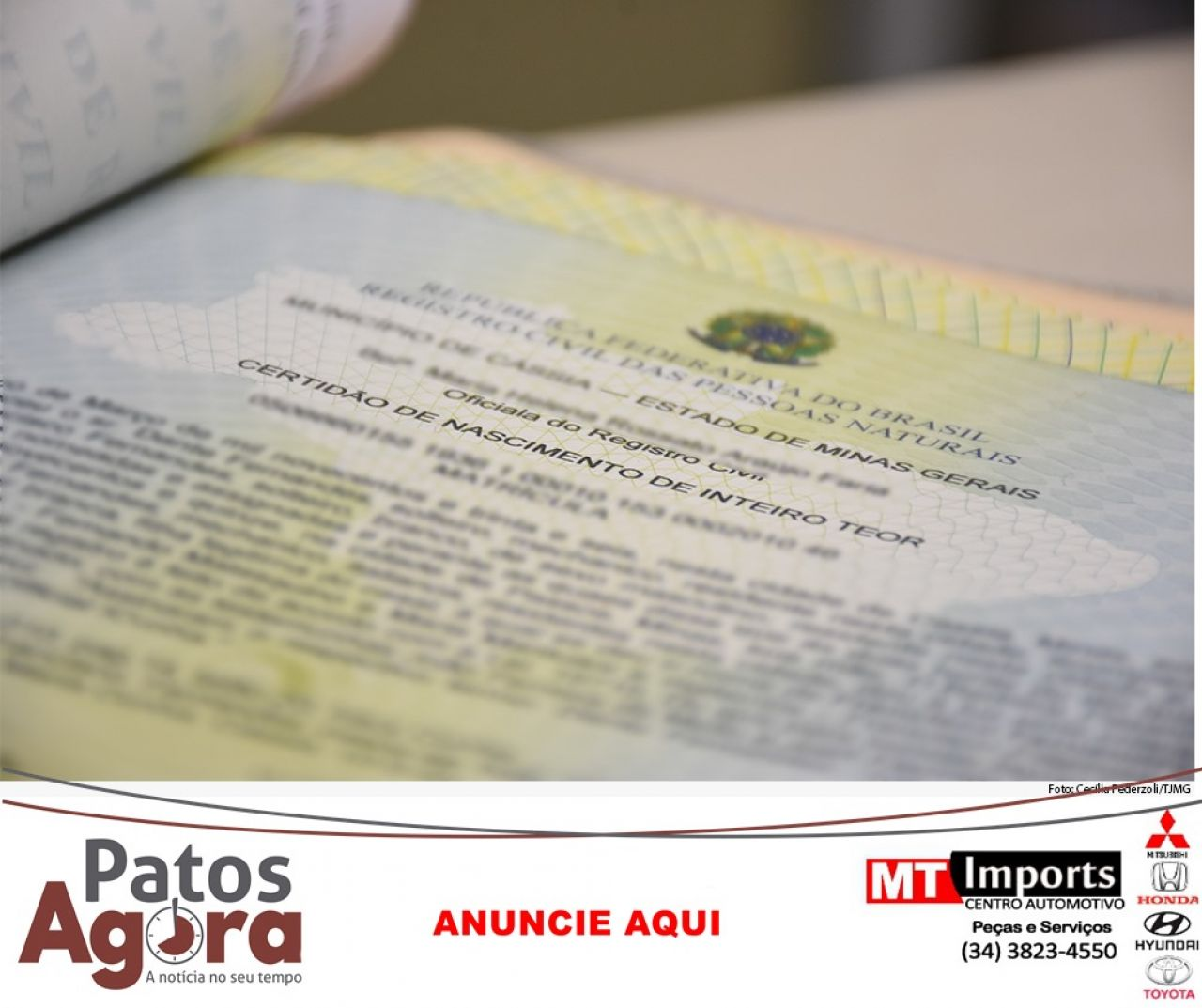 TJMG reconhece paternidade socioafetiva após morte de professor em Patos de Minas