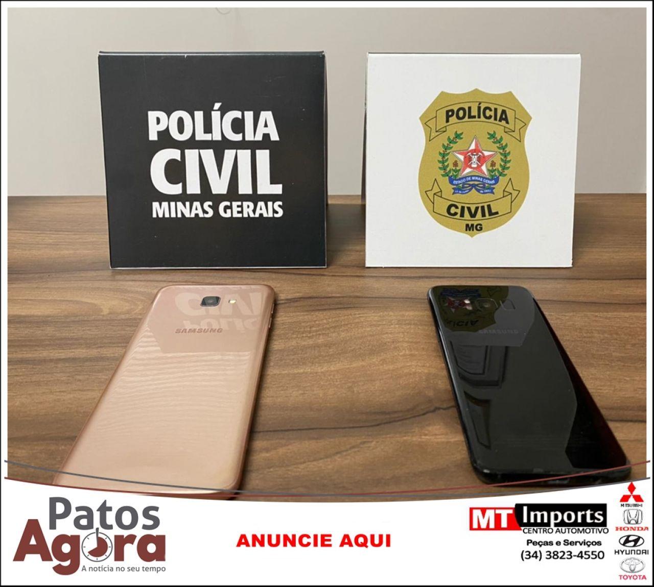 Polícia Civil recupera aparelhos celulares furtados em Presidente Olegário
