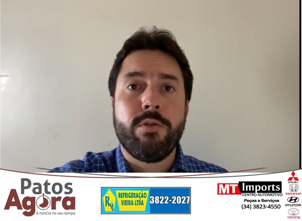 VÍDEO: Falcão diz que 40 mil seringas já estão em Patos de Minas e espera imunização em breve