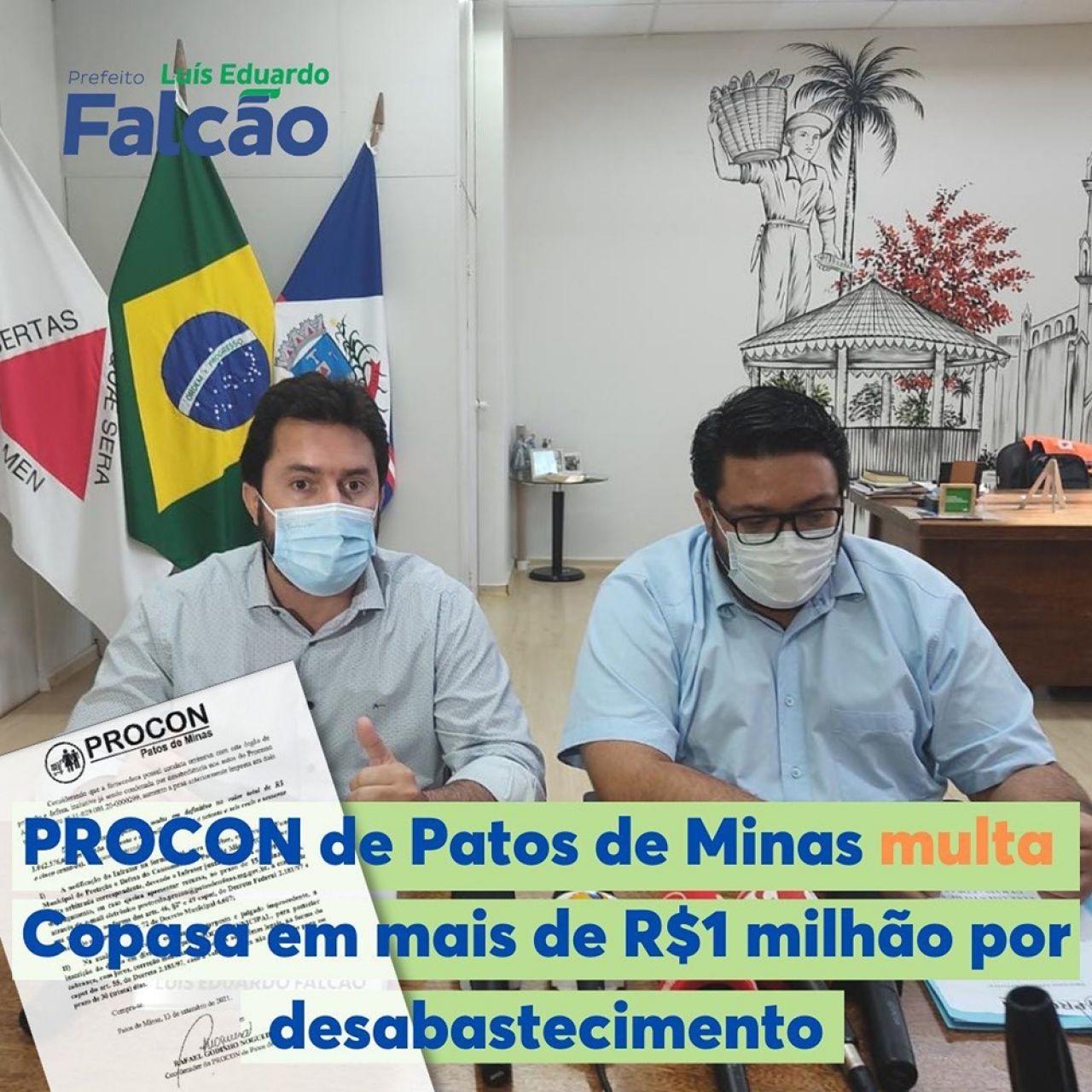 Procon multa Copasa em mais de R$ 1 milhão por desabastecimento