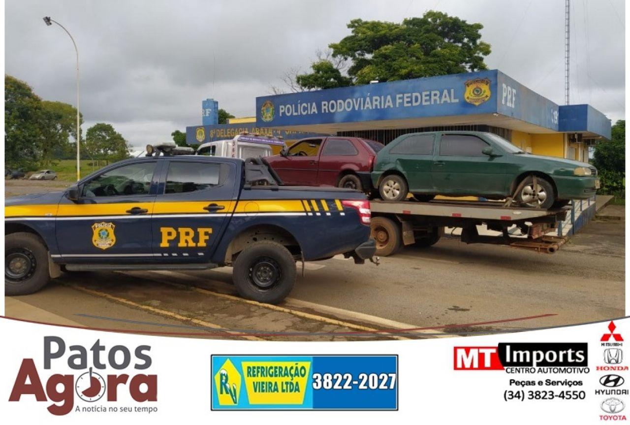 PRF recupera carga roubada de atacadista, em Campos Altos (MG)