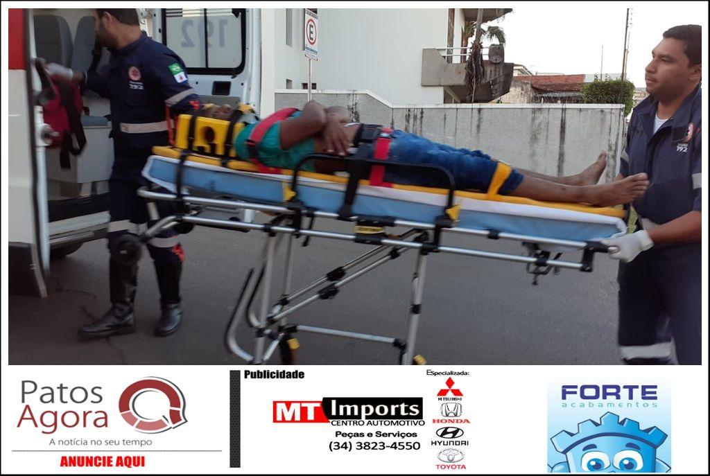 Motorista de picape deixa motociclista ferido e foge sem prestar socorro no Centro de Patos de Minas