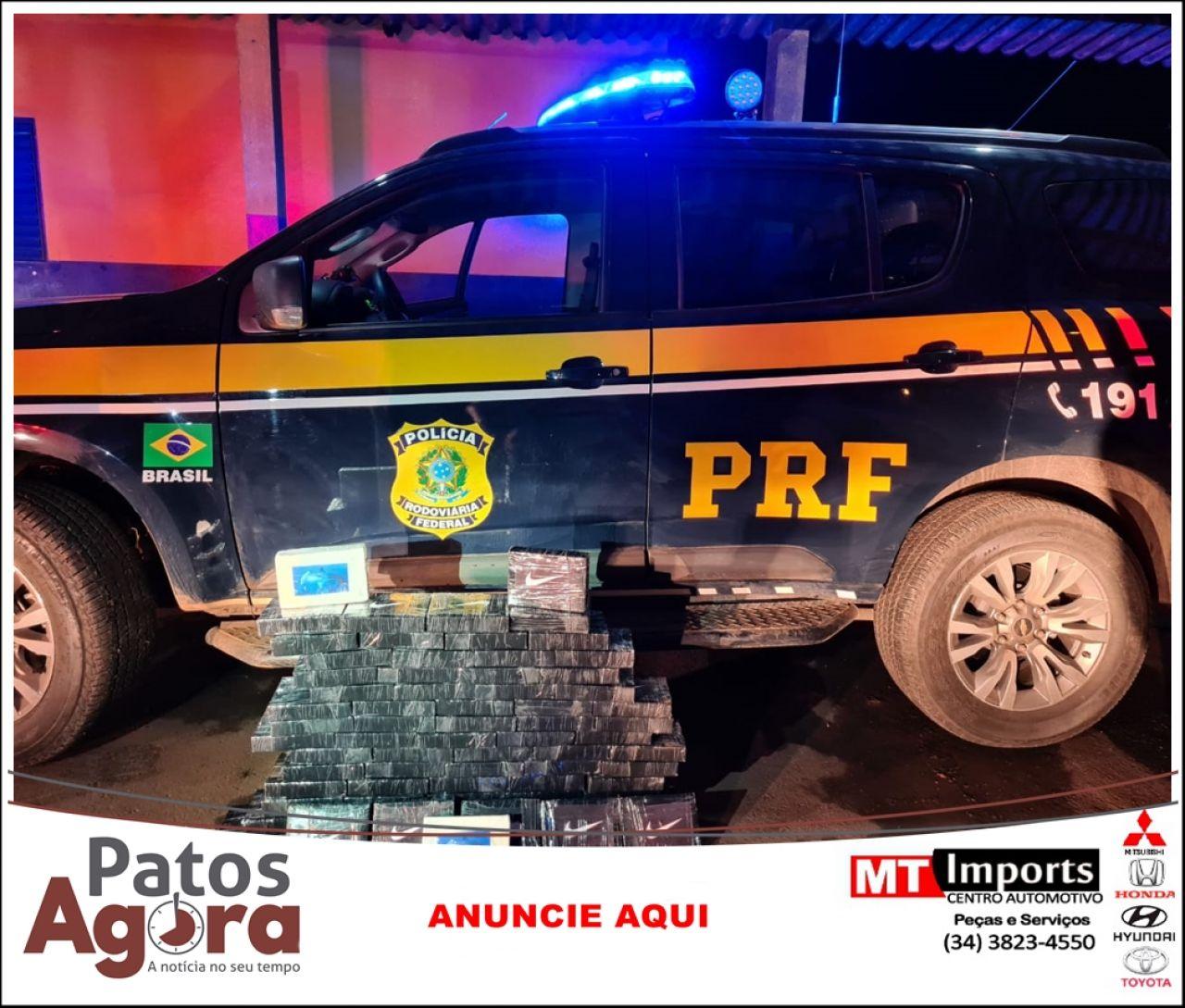 PRF aborda ônibus e localiza carga de cocaína avaliada em mais de 3 milhões de reais