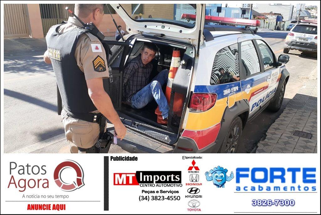 Jovem de João Pinheiro é preso com mochila carregada de maconha