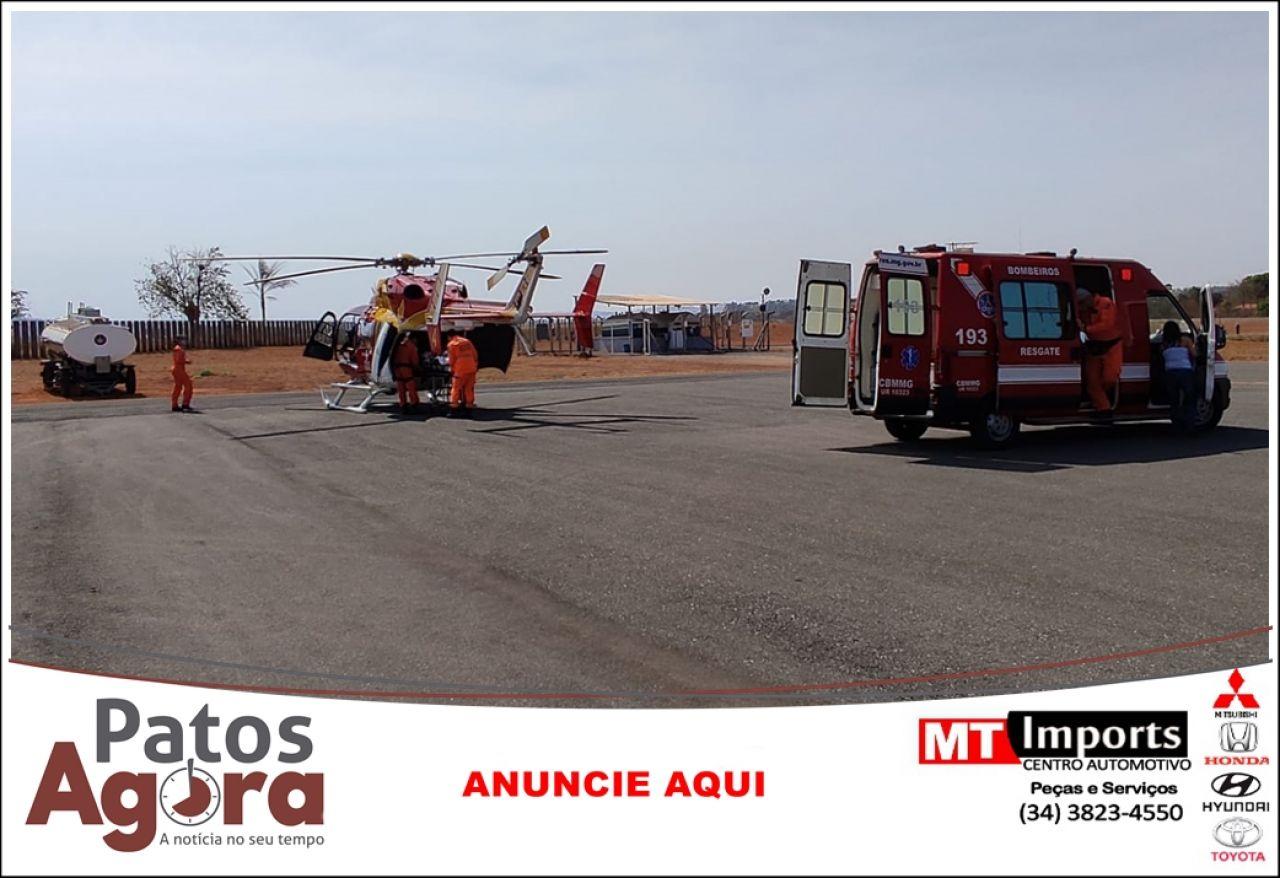Criança de 6 anos com câncer no fígado é transferida para Belo Horizonte pelo Batalhão de Operações Aéreas
