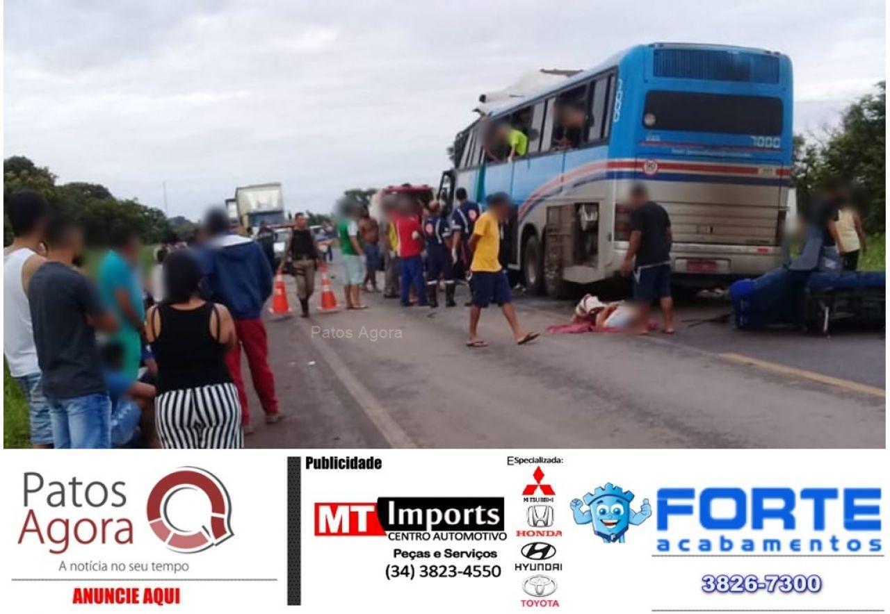 Grave acidente deixa feridos na BR-365 próximo de Luizlândia do Oeste
