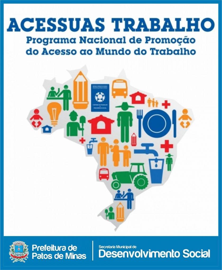 Programa de Acesso ao Mercado de Trabalho será lançado em Patos de Minas nesta quarta-feira