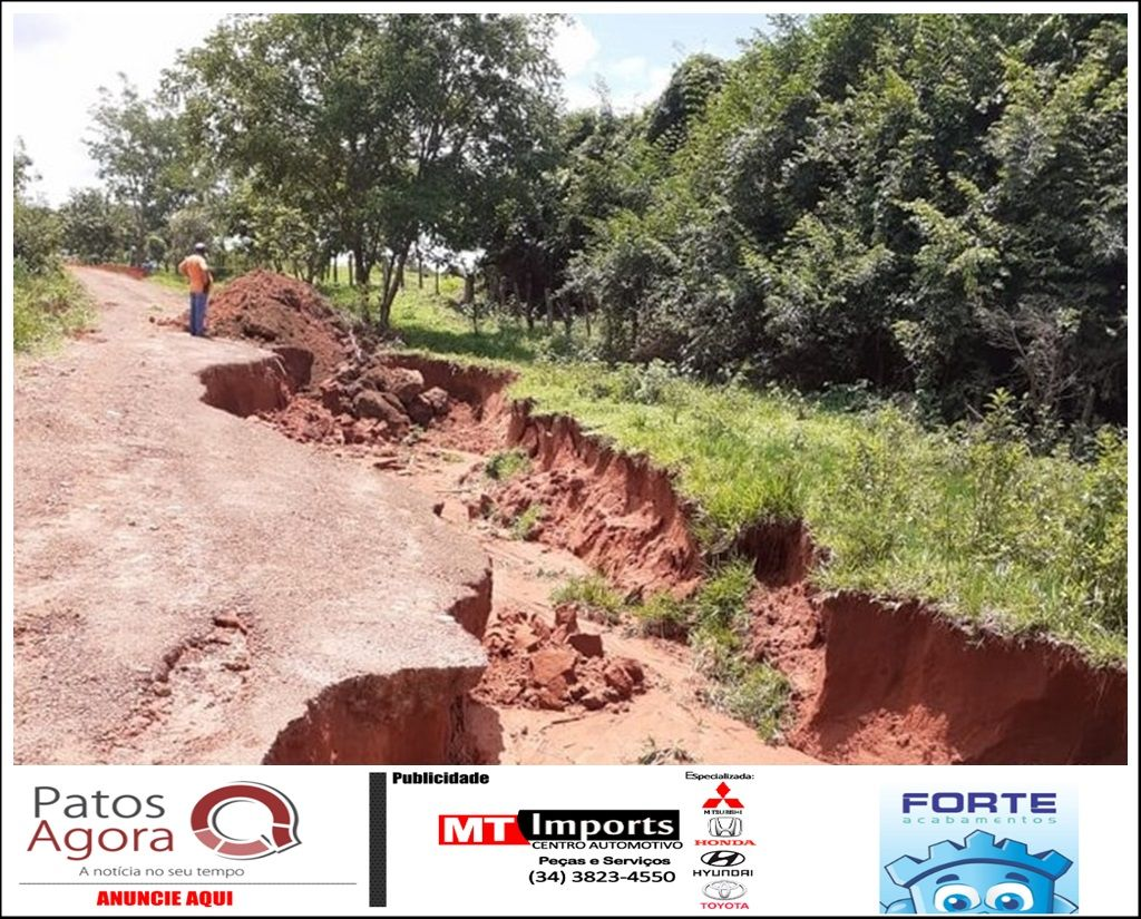 Chuvas danificam trechos das estradas de Galena e Andrequice e prejudica acesso à Presidente Olegário