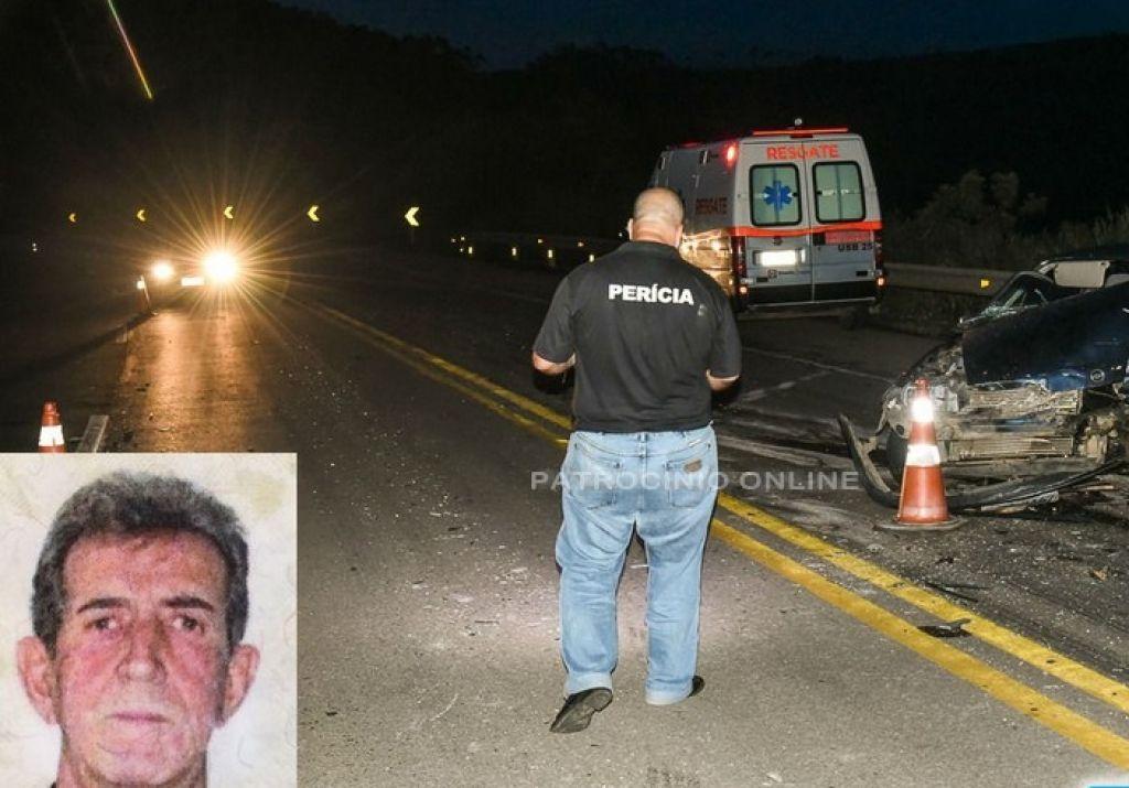 Idoso morre após colisão de carro e carreta na BR-262 entre Ibiá e Campos Altos