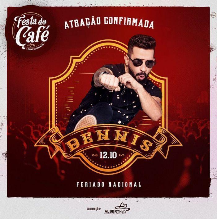 Dennis Dj é atração confirmada na Festa do Café em Carmo do Paranaíba