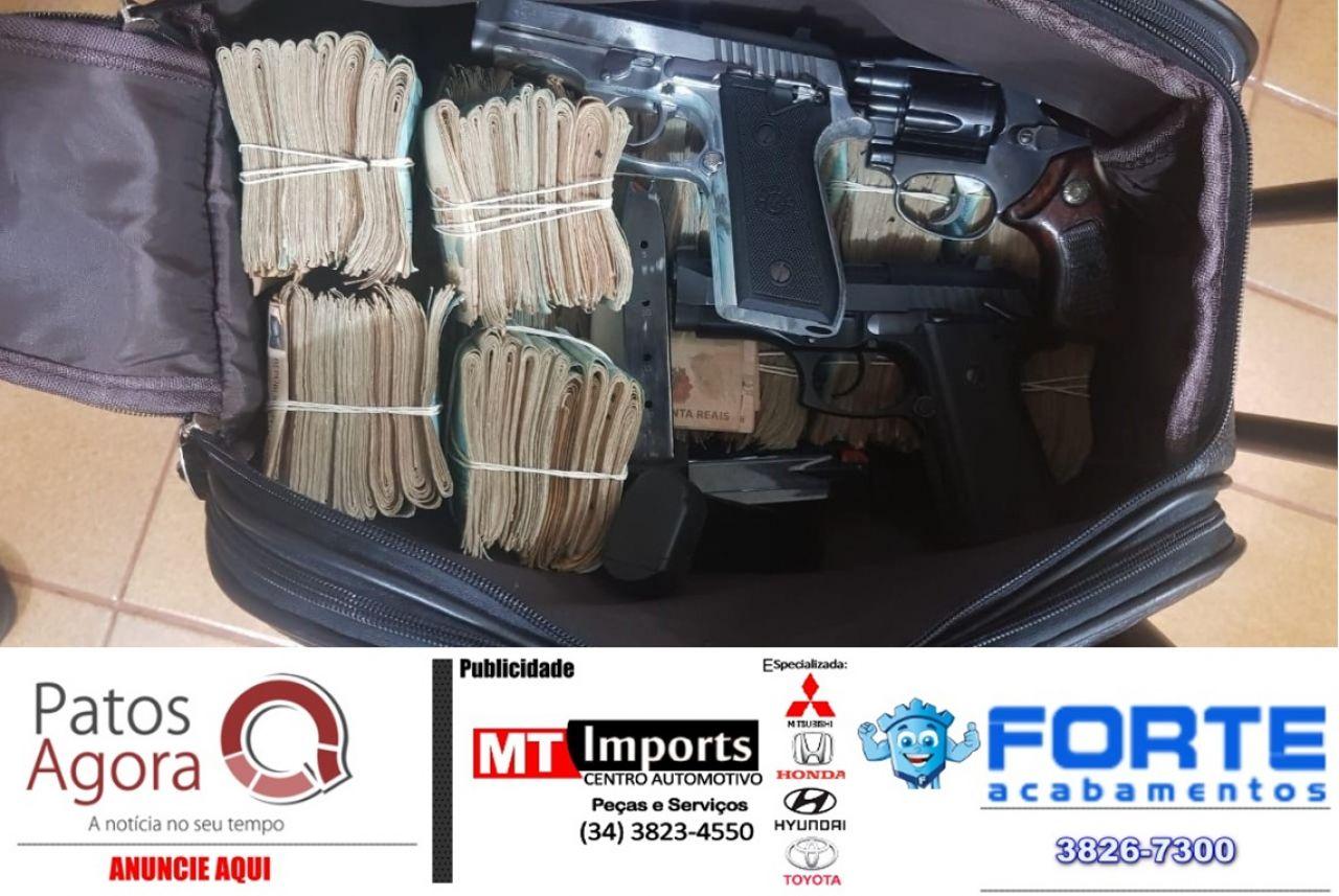 Mais de 160 mil reais são apreendidos em operação da PM em Monte Carmelo